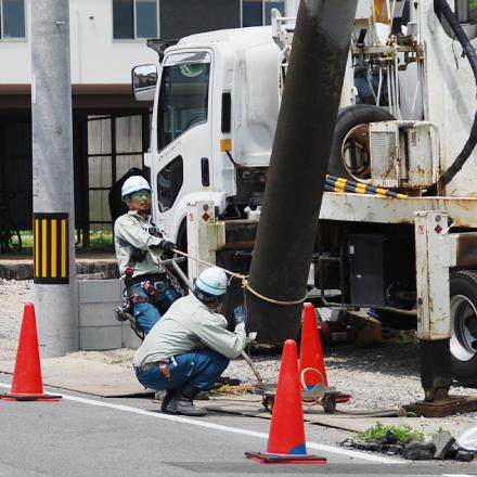 NTT通信設備工事(アクセス系) 作業風景