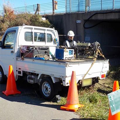 一般通信設備工事 作業風景