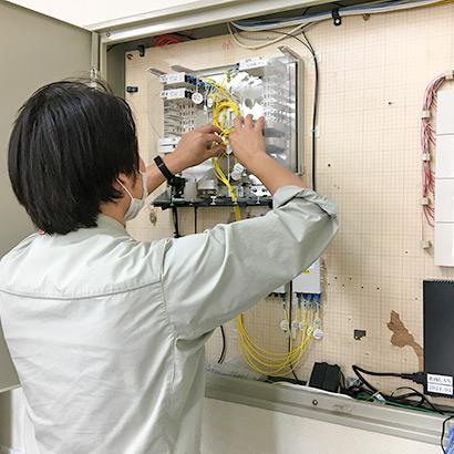 NTT通信設備工事(ユーザー系) 作業風景